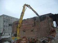 Demolition of shops of industrial buildings