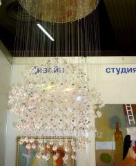 Design of lighting in interior of hotels, salons,