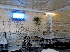 Design and decor in interior of restaurants.