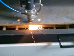 It is sharp the laser of sheet metals