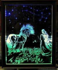 Гравировка на стекле лазером