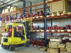 Warehouses with the equipment for loading and