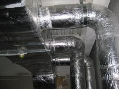 Installation of systems of ventilation and air
