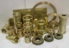 Molding is bronze. Molding of color alloys (to the