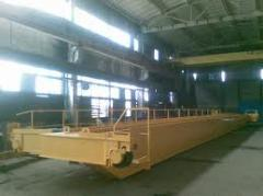 Production and installation of the crane