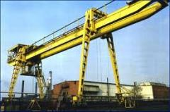 Production of gantry cranes and spare parts to