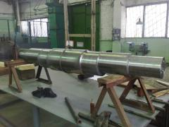 Production of details for mining, metallurgical,