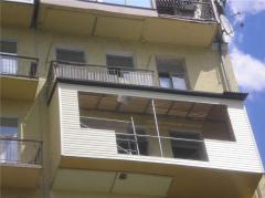 Repair, balcony zastekleniye