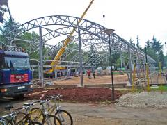 Installation of arch hangars, warehouses,