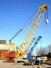 Installation and adjustment of cranes,