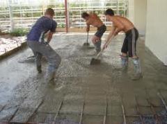 Device of concrete floors