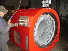 Rewind of electric motors of all types with