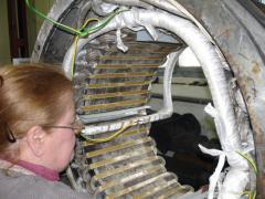 Complex repair of generators, frequency converters