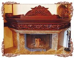 Finishing of a fireplace (Kiev), finishing of