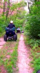 Driving on ATVs Outdoor activities