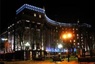 Illumination of office buildings in Kiev (Kiev,