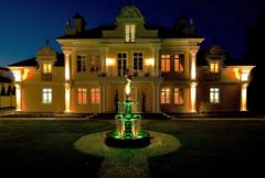 Decorative lighting and podstvetka of a facade of