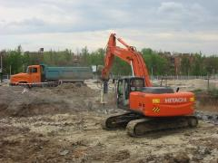 Dismantle and dredging of the bases and reinforced
