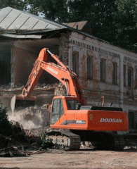 Dismantle of constructions in the conditions of