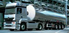 Доставка химии  собственным автотранспортом