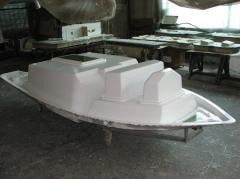 Production of fiberglass matrixes, repair of