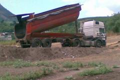 Cargo transportation dump truck of 30 tons.