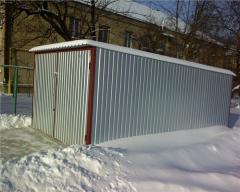 Installation, construction of metal garages