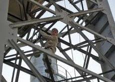 Installation of metal frameworks