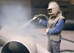 Sandblast cleaning