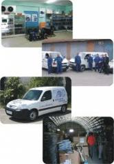 Installation and adjustment of the trade equipment