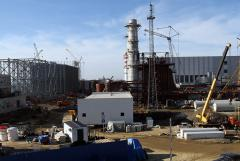 Construction works on thermal power plant and