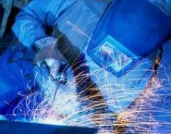 Welding works (arc, argon, semiautomatic device).