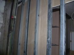 Installation of walls, partitions from gypsum