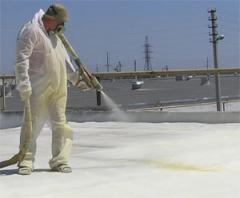 Polyurethane foam, Works on warming of buildings,
