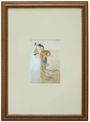 Pictures in wooden frames