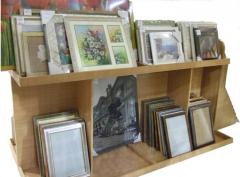 Reproductions of pictures in frames