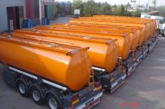 Automobile transportation of goods by fuel trucks