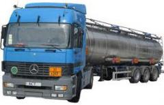 Gasoline transportation by fuel trucks