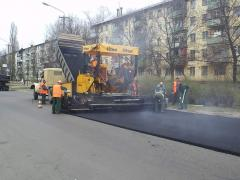 Asphalting of roads, laying of ShchMA