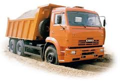 Delivery loose gruzov:shcheben, sand, slag, soil,