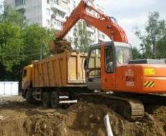 Delivery of building materials: crushed stone,