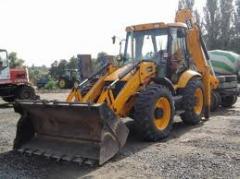 Services of a loader, excavator