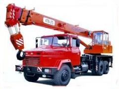 Repair of cranes automobile: current and capital
