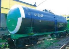 Транспортировка железнодорожными цистернами