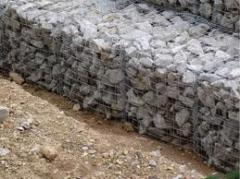 Gabions to buy strengthening of the coastline,
