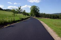 Asphalting concreting of paths, Asphalting and