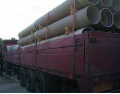 Cargo delivery automobile - pipes fiberglass