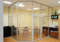 Installation of office partitions