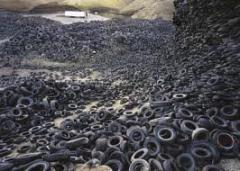 Collecting and processing of worn-out tires