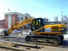 Rent of the JCB 220 excavator